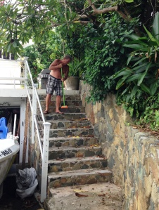 Sweeping the steps