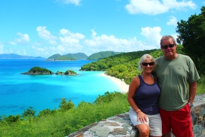 K & D above Trunk Bay