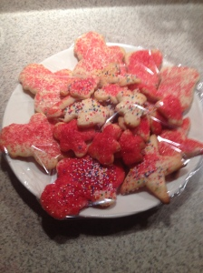 First Christmas cookies with Anya