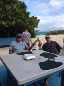 Doug & Nate at Loblolly Beach in Anegada