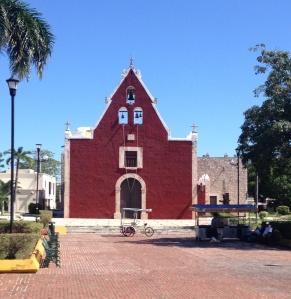 Church in a neighborhood outside downtown