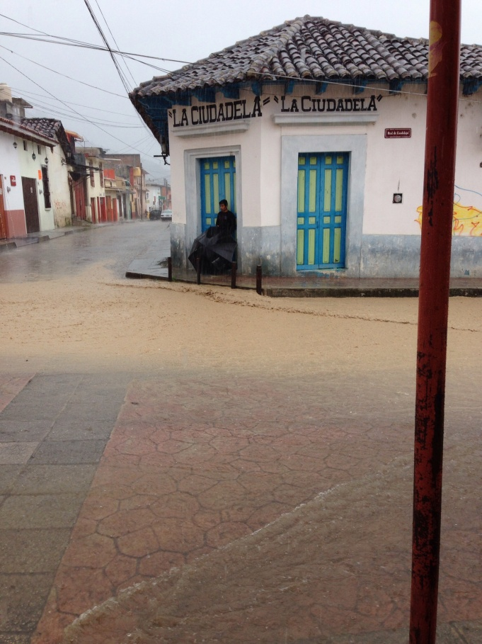 Rain in the streets, San Cristobal