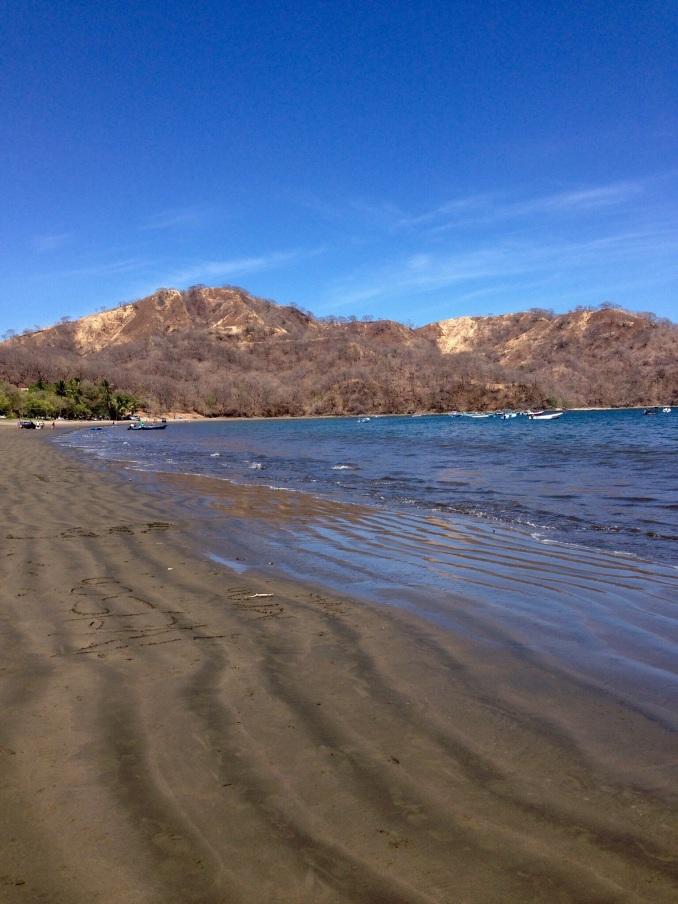Playa del Coco, dark,volcanic sand