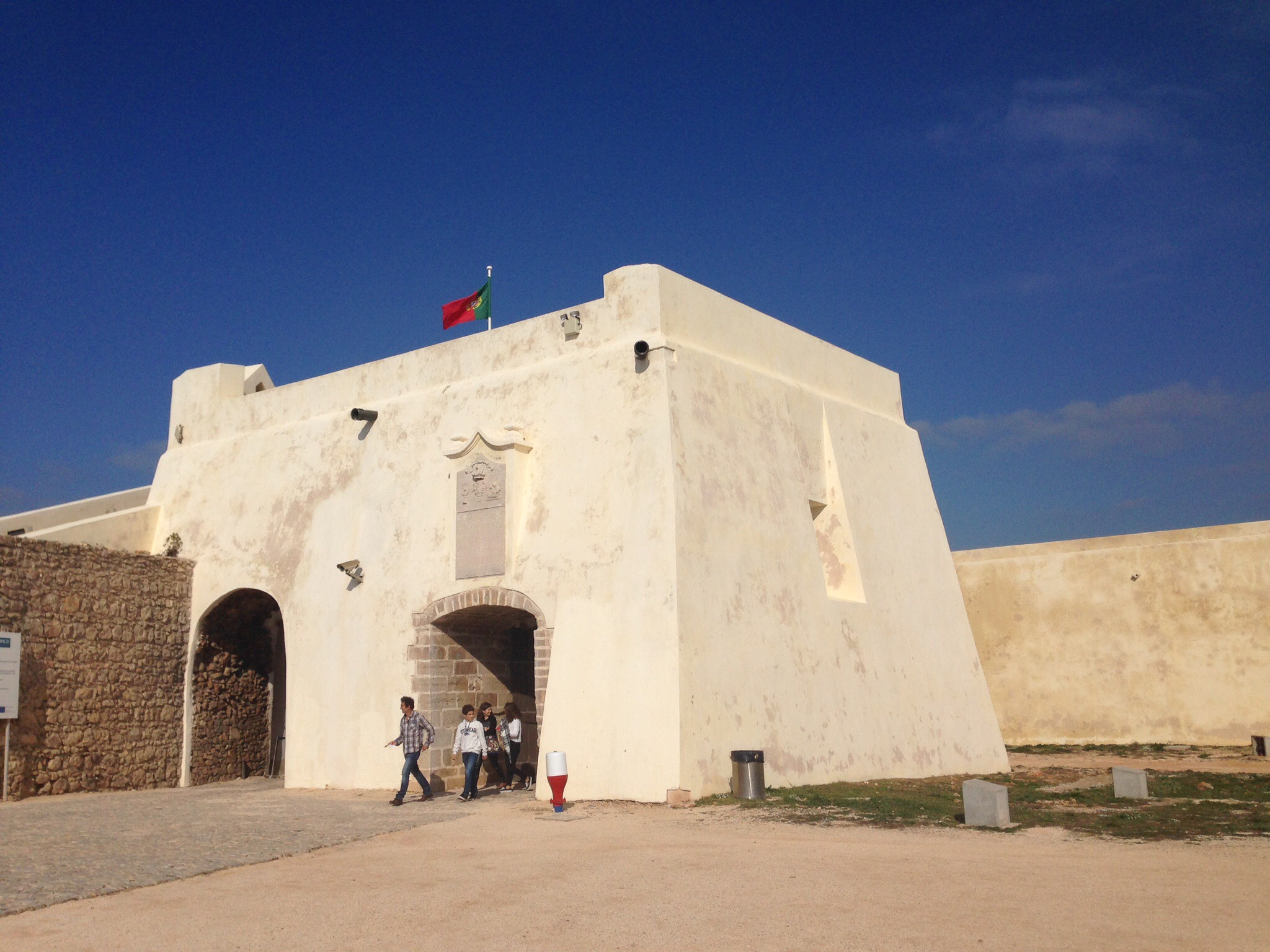 Fort in Sagres that's also part of Henry the Navigator's school.